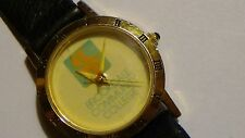 Ladies gold toned Brookdale Community College watch New battery