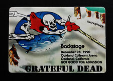 Grateful Dead Backstage Pass Snowmobile Sled Winter Puzzle Piece ! 12/28/1990 CA