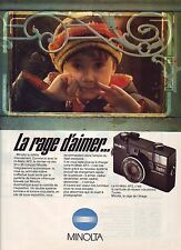 PUBLICITE ADVERTISING 034 1981 MINOLTA   Hi matic AF2 appareil photo