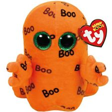 "NEW! TY Ghoulie 9"" LARGE BEANIE BOOS Halloween ORANGE BOO GHOST Baby TOY"