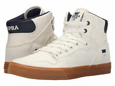 NEW NEW SUPRA VAIDER OFF WHITE BLUE NIGHTS GUM SURF SKATEBOARD SPORTS SHOES 13