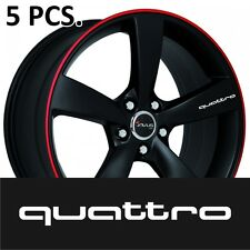5pcs Audi quattro Door Handle Wheel sticker decal A6 A4 Q5 Q7