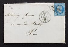 France Cover St. Quentin 1857 Frankreich Brief (G-7708