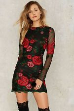 Nasty Gal collection Get Sprung Embroidered Mini Dress Size M