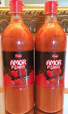Lot Of 2 Salsa AMOR EXTRA HOT MEXICAN SAUCE Spicy 33oz Large Bottles New Picante
