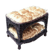 wicker cat basket, dog house, luxury two tiers, lower price, better quality 2258
