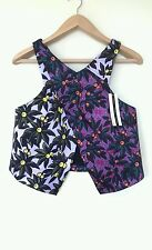 BNWT TOPSHOP LADIES WRAP TOP CROPPED MULTI COLOUR  FLORAL SIZE 14  RRP £50.00