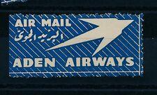 84546) Luftpost Zettel Aufkleber Air mail, ADEN AIRWAYS MNH
