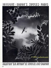 PUBLICITE PARFUM CARON EN AVION FLACON DE 1933 FRENCH AD ADVERT PUB ART DECO