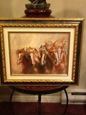 Oil painting ( Horses)