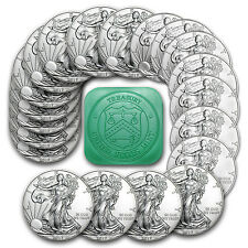 2017 1 oz Silver American Eagle Coins BU (Lot of 20) - SKU #117462