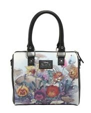 Disney Alice In Wonderland Watercolor Scene Barrel Bag Purse Gift New With Tags!