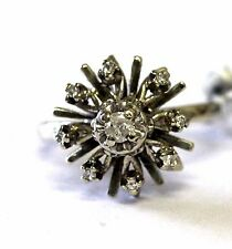 14k white gold .16ct ladies I3 H diamond cluster ring 5.7g womens vintage estate