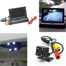 Car Night Vision LED Rear View Backup Camera & Foldable Display Monitor For BENZ