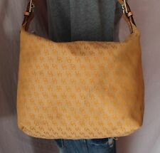 DOONEY BOURKE Medium Tan Signature Shoulder Hobo Tote Satchel Purse Bag