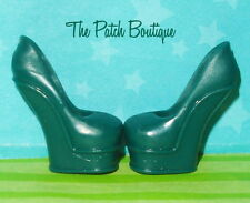 MONSTER HIGH REPLACEMENT SCARAH SCREAMS GREEN I HEART FASHION HEELS SHOES ONLY
