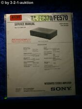Sony Service Manual TA FE370 /FE570 Amplifier (#4135)