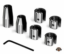 "FAT SPOKE balancing wheel weights- 3/8""Thick Spokes 6 pack - CHROME -  NEW!"