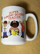 Super Sunday School Teacher ceramic mug coffee cup Teach Me Your Ways Oh Lord