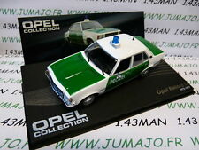 voiture 1/43 IXO eagle moss OPEL collection n°89 : REKORD D Polizei 1972/1977