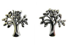 Pair Of Sterling Silver  925  Tree  Of  Life  Ear Studs  !!     Brand  New  !!