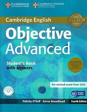 OBJECTIVE ADVANCED CAE Fourth Ed STUDENT BOOK w Answers+CD-ROM +Class CDs @NEW@