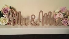 Wedding Mr & Mrs 10cms Wooden Letters Freestanding Sign