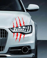 SCRATCH BEAST MONSTER Headlight Die Cut Decals Sticker Vinyl Self Adhesive_238-3