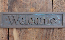 """""""Welcome"""" New Bronze Wall or Door Plaque, Sign for Cafe, Home, Office or Bar"""