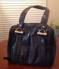 Kathy Van Zealand Purse Handbag Gray Outside Zippers