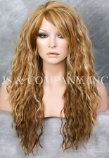 Heat Resistant Long Curly Wavy Full Body Wig Blonde Mix HSP 2216