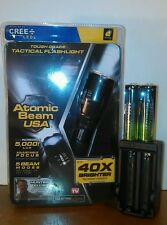 ATOMIC BEAM USA FLASHLIGHT AS SEEN ON TV & 2-RECHARGEABLE BATTERYS & 1-CHARGER