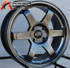 17X8 ROTA GRID WHEELS 4X114.3 RIM ET35MM HYPER BLACK FITS 4 LUG ACCORD TIBURON