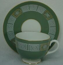 WEDGWOOD china ASIA GREEN pattern R4310 Cup & Saucer Set