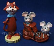Vintage MR. JINKS + PIXIE & DIXIE Ceramic Figurines HANNA BARBERA CARTOON Idea