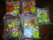 Burger King--Rugrats Movie--Lot Of 5--Spike(2)-Reptar-Angelica--1998---Sealed