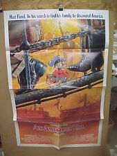 """AN AMERICAN TAIL, orig 1-sht """"A"""" / movie poster (Don Bluth animation)"""