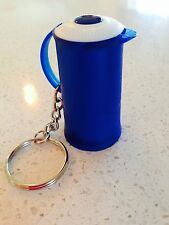 """Tupperware Key Chain Thermo Pitcher Bold N Blue 2"""" Tall Keychain Rare New"""