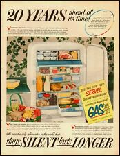 1950 Vintage ad for SERVEL Gas Regrigerators/50's Household fashion (032213)