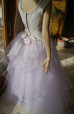 SALE CINDERELLA VINTAGE PALE PINK XS PROM / FORMAL / GOWN & CACHE PINK PURSE
