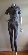 Moschino Sz S Striped Matching Set Cropped Jacket/ Skinny Fit Jeans Italy NWOT