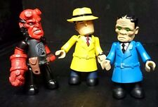 Hellboy & dick tracy mez-itz. 3 complete figures plus 3 pour rechange ou de réparation