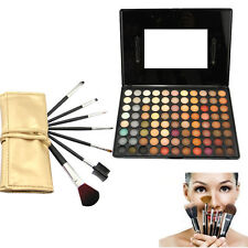 88 Color Eyeshadow Rainbow Eye Shadow Cosmetics Makeup Palette +Brushes Tool Set