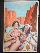 SEXY INDIAN COUPLE CROSSING THE MOUNTAINS COVER SIGNED BY VELAZQUEZ FRAGA