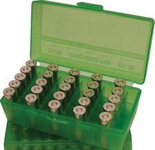 MTM Case-Gard Flip Top Handgun Ammunition Ammo Storage Box 50 Round P50-9M Green