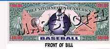 BASEBALL THEME MILLION DOLLAR BILL FAKE PLAY MONEY (12) NOVELTY CURRENCY PARTY