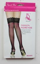 Fashion Beileisi Stocking NIB Black Opaque Magenta Laced Stockings (B12)