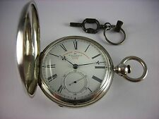 Antique English Railroad 19 jewel fusee key wind pocket watch 1860s Jaccard case