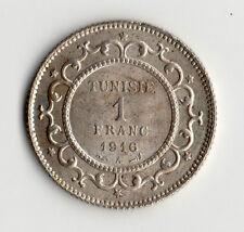 MONNAIE DE 1 FRANC TUNISIE ( TUNISIA ) EN ARGENT 1916 ( 1335 ) @ SILVER COINS !