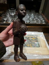 Early 20th Century Antiguo Madera Tallada del norte de África Escultura De Niño